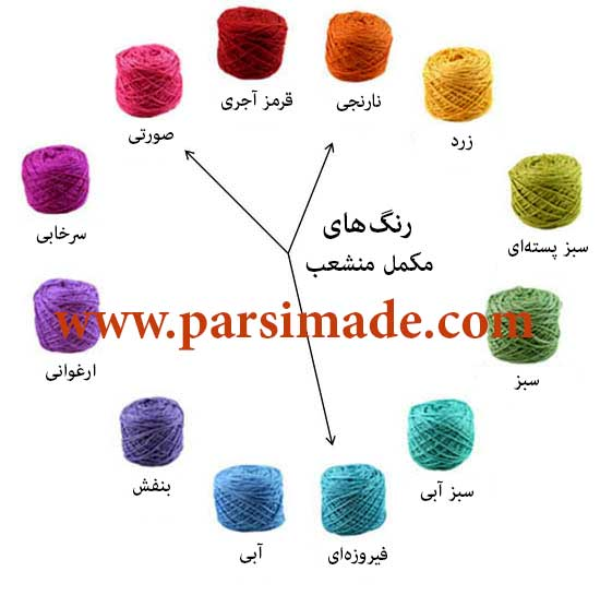 Knitting Color Wheel : رنگی بافی؛ ترکیب رنگ های مناسب