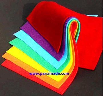 تصویر پارچه نمدی درجه 1: مجموعه رنگین کمان