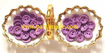 تصویر دکمه دایرهای طرح گل