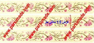 تصویر روبان گلدار طرح گل میخک