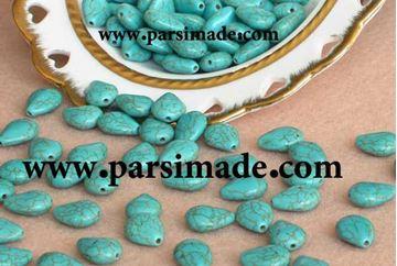 سنگ فیروزهای اشکی (10 × 13 میلیمتر)