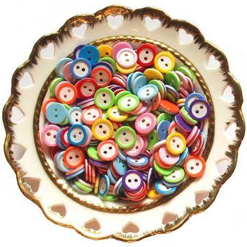 تصویر دکمههای دایرهای رنگارنگ