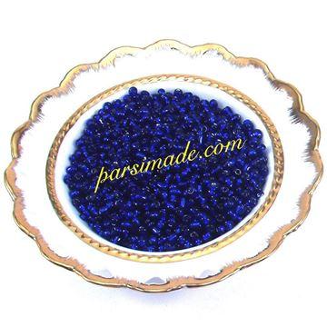 منجوق شیشه ای آبی کاربنی 4 میلیمتر