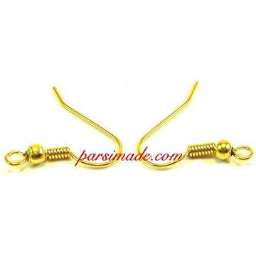 گیره عصایی گوشواره طلایی