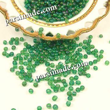 منجوق شیشه ای سبز  4 میلیمتر
