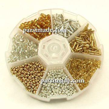 پک طلایی و نقره ای منجوق
