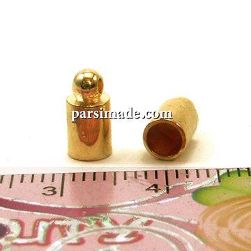 بست سربند لولهای رنگ طلایی سایز 9 میلیمتر