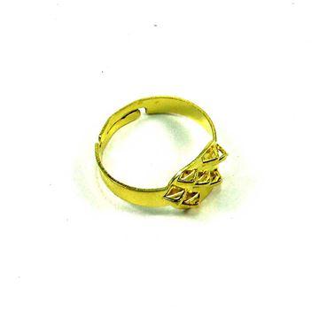 پایه طلایی انگشتر با 7 حلقه آویز