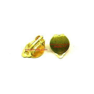 پایه گوشواره چسبی طلایی رنگ
