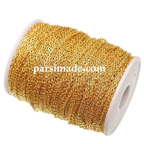 زنجیر طلایی ضد زنگ سایز 5 × 3 میلیمتر