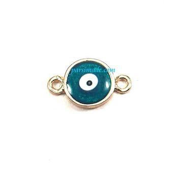 چشم نظر دایره ای سبز آبی