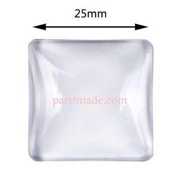 شیشه محدب گردنبند مربعی 2.5 سانتیمتر