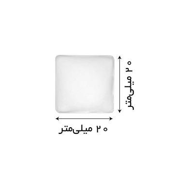 شیشه محدب گردنبند مربعی 2 سانتیمتر