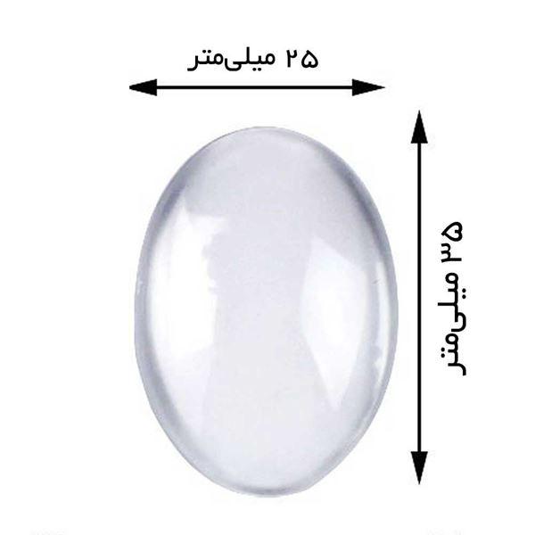 شیشه محدب گردنبند بیضی شکل