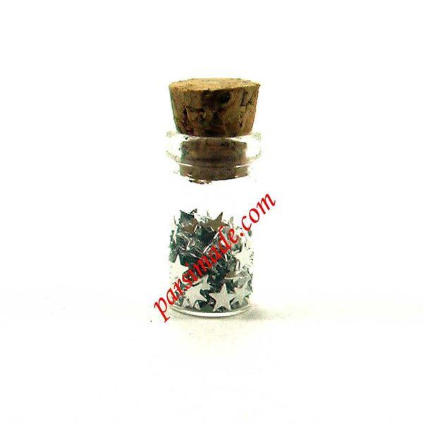 بطری کوچک شیشه ای سایز 18 میلیمتر