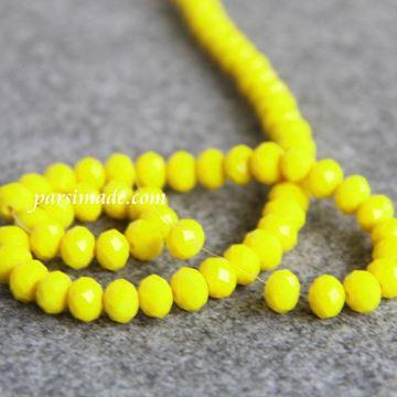 سنگ کریستالی تراش دار لیمویی سایز 8