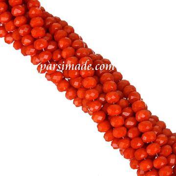 سنگ کریستالی تراش دار نارنجی متالیک