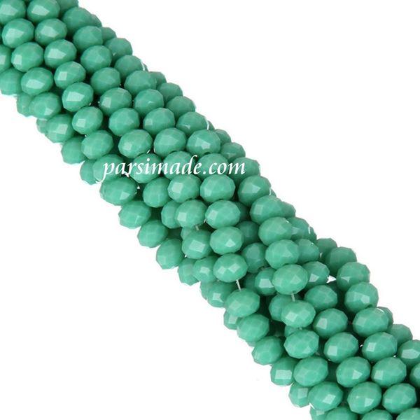 سنگ کریستالی تراش دار سبز آبی