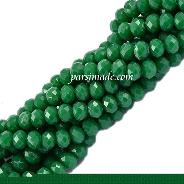 سنگ کریستالی تراش دار سبز چمنی