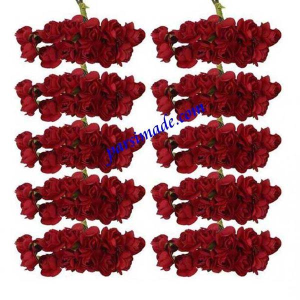 قطعه گل رز کاغذی کوچک رنگ قرمز