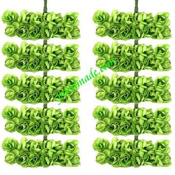 قطعه گل رز کاغذی کوچک رنگ سبز