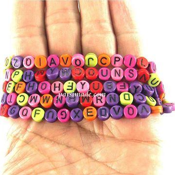 مهره های رنگی حروف انگلیسی