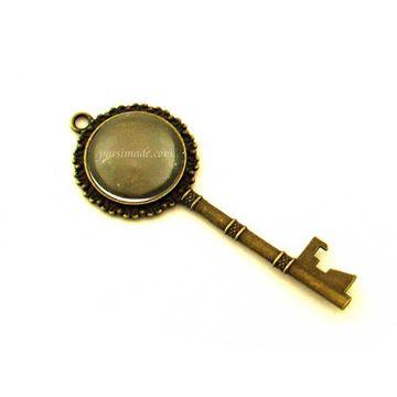 کلید برنزی 2 با شیشه محدب