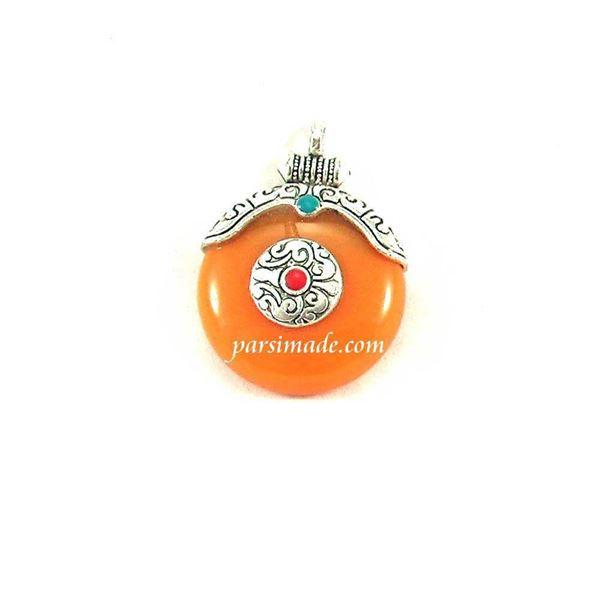 آویز گردنبندی نارنجی