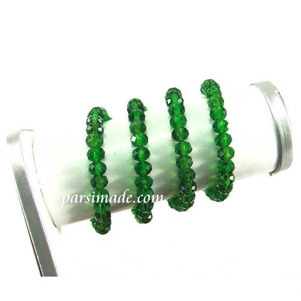 سنگ کریستالی تراش دار سبز تیره سایز 6