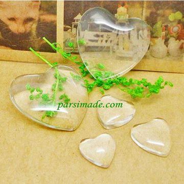 شیشه محدب گردنبند طرح قلب
