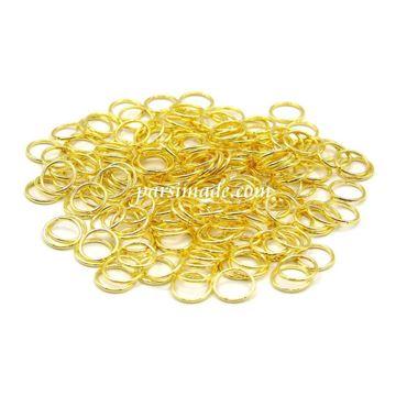 حلقه اتصال طلایی استیل سایز 5
