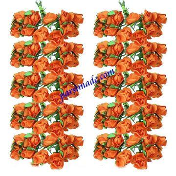 قطعه گل رز کاغذی کوچک رنگ نارنجی
