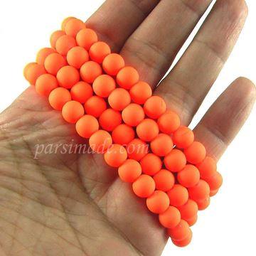 مروارید مات نارنجی سایز 8