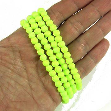 مروارید مات سبز فسفری سایز 6