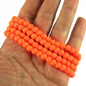مروارید مات نارنجی سایز 6