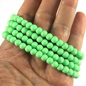 مروارید مات سبز سایز 6