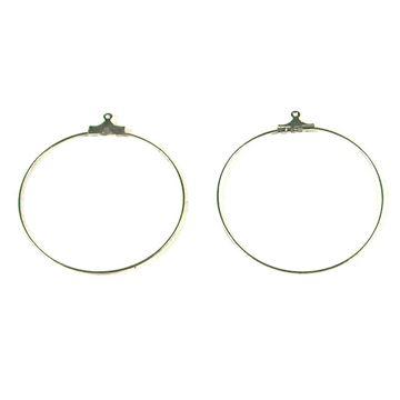 حلقه نقره ای گوشواره ۴۰ میلیمتر