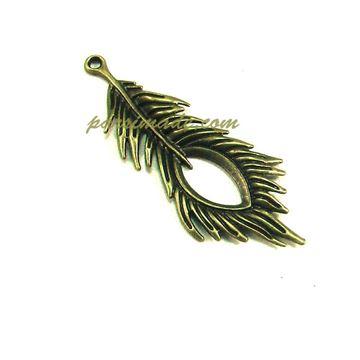 آویز برنزی طرح پر طاووس