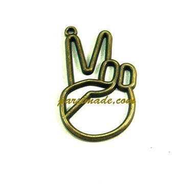 آویز برنزی گردنبند k-pop