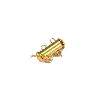 تصویر قفل آهنربایی لوله ای طلایی ۲ حلقه