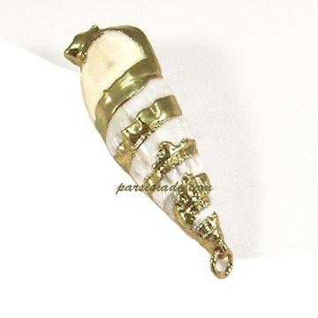 آویز گردنبند صدفی کد S14